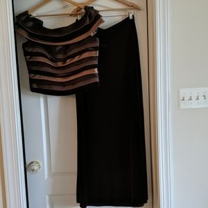 Sherrie Bloom Tops - Stunning Off the Shoulder Trio Layer Top and Skirt